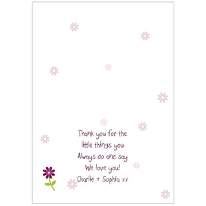 Personalised Patchwork Flowers Card - can be personalised to suit any occasion (FREE SHIPPING)
