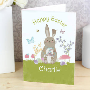 Personalised Easter Meadow Bunny Card (FREE SHIPPING)