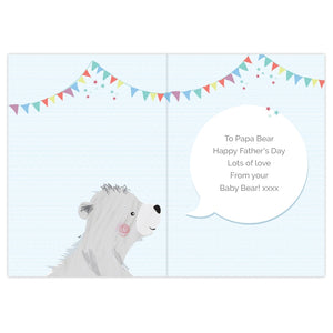 Personalised 1st Father's Day 'Daddy Bear' Card