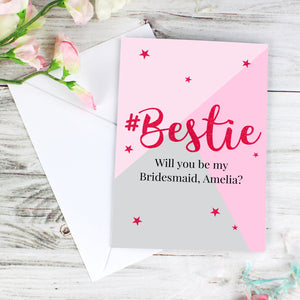 Any Occasion Personalised #Bestie Card (FREE SHIPPING)