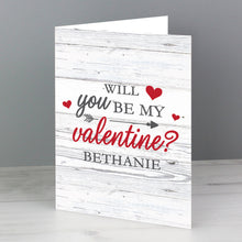 Personalised Be My Valentine Card (FREE SHIPPING)