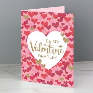 Personalised Valentine's Day Confetti Hearts Card (FREE SHIPPING)