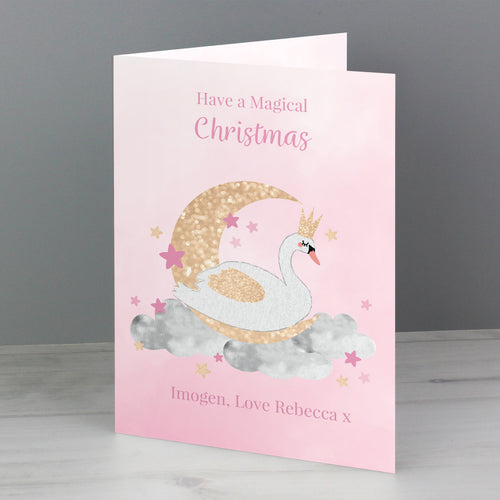 Any Occasion Personalised Swan Lake Card (FREE SHIPPING)