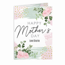 Personalised Abstract Rose Mother's Day Card (FREE UK SHIPPING)