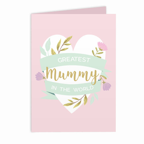 Personalised Floral Heart Card (FREE SHIPPING) - Great for Mother's Day