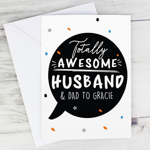 Personalised 'Totally Awesome' Card (FREE SHIPPING)
