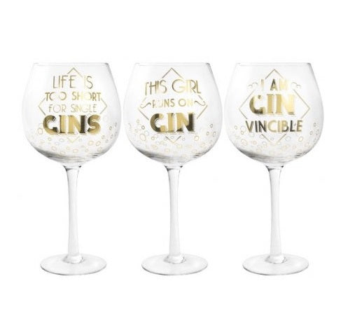 Gin Glass (Long Stem) - Choice of 3 designs