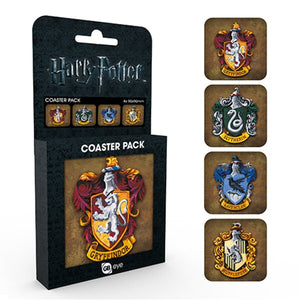 Harry Potter Coaster Pack House Crests Set Of Four