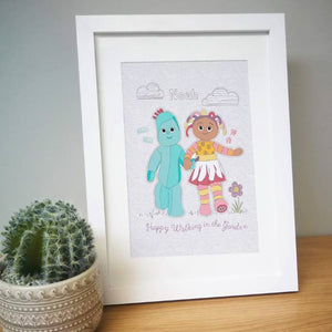 Personalised 'In The Night Garden' Happy Walking Framed Print