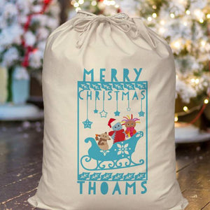 Personalised In The Night Garden Snow time Christmas Sack