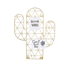 Cactus Wire Wall Grid Hanging Card Holder