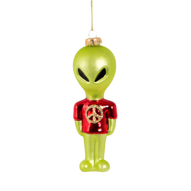 Alvin the Alien Glass Christmas Tree Decoration