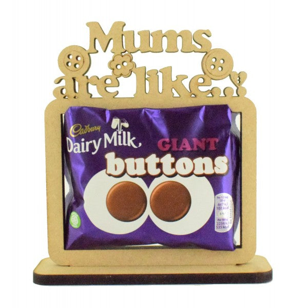 Customisable 'Mums are like buttons' Giant Buttons Chocolate Holder