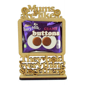 Customisable 'Mums are like buttons. They hold everything together' Giant Buttons Chocolate Holder