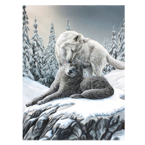 'Snow Kisses' Canvas Plaque by Lisa Parker - 19x25cm or 50x70cm
