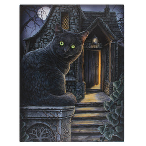 'What Lies Within' Cat Canvas Plaque by Lisa Parker - 19x25cm or 50x70cm