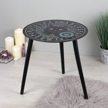 'The Charmed One' (Cat) Small Glass Spirit Board Table by Lisa Parker