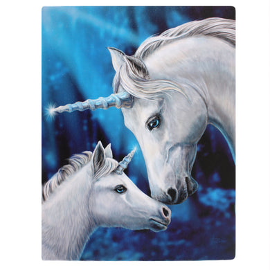 'Sacred Love' Unicorn Canvas Plaque by Lisa Parker - 19 x 25cm