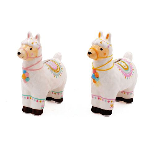 Standing Llama Ceramic Money Bank - choice of two designs