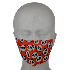 Cutiemals Panda (Faces) Reusable Face Mask (Small - Child)
