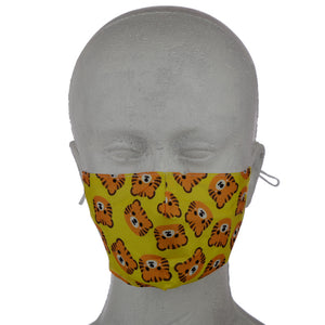 Cutiemals Tiger (Faces) Reusable Face Mask (Small - Child)