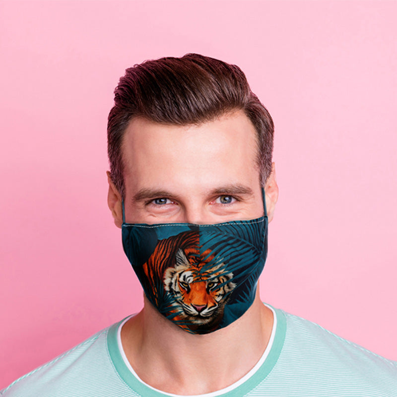 Stalking Tiger Reusable Face Mask (Large - Adult)