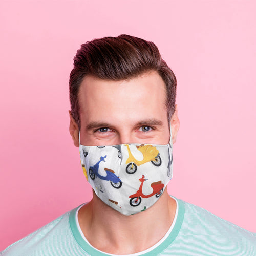 Scooter Reusable Face Mask (Large - Adult)