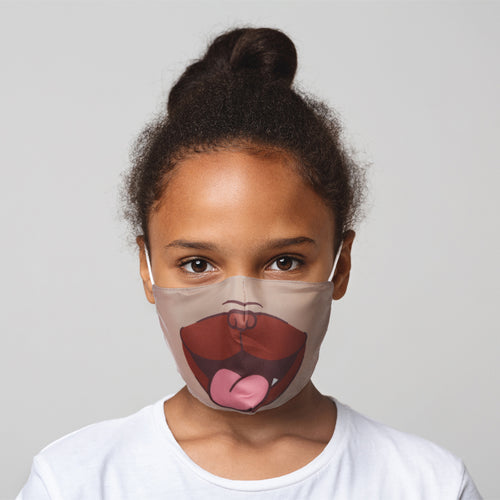 Mopps Pug Reusable Face Mask (Small - Child)