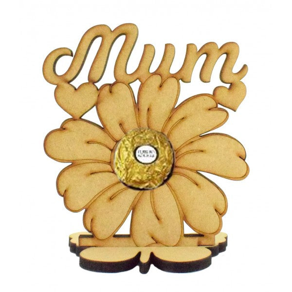 Customisable Mum Flower Ferrero Rocher/Lindt Chocolate Holder on a Stand (Chocs not inc.)