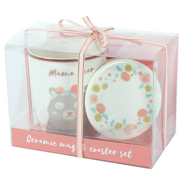 Mama Bear Mug and Coaster Set