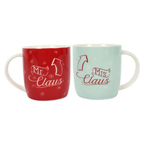 Christmas Mr & Mrs Claus Mug Set
