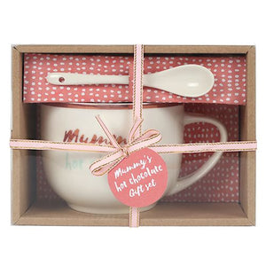 Mummy's Hot Chocolate Mug & Spoon Set - Ideal Gift for Mother's Day!