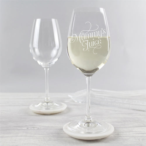 7f7e9920d9d 'Mummy's Juice' Engraved Wine Glass - perfect for Mother's Day. '
