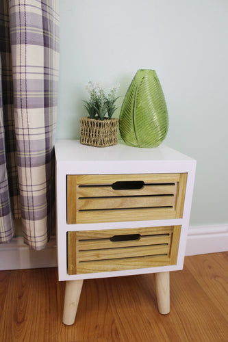 Two Drawer Compact Cabinet (Unit) with Removable Legs
