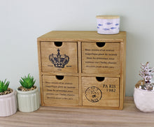 4 Drawer Small Wooden Storage Cabinet (Trinket)