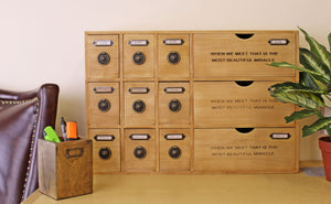 12 Drawer Small Wooden Storage Cabinet (Trinket)