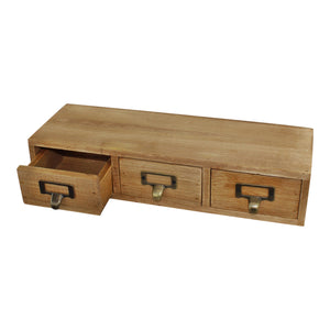 3 Drawer Triple Level Small Wooden Storage Unit (Trinket)