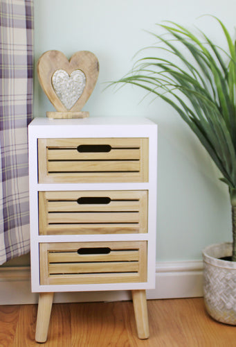 Three Drawer Compact Cabinet (Unit) with Removable Legs