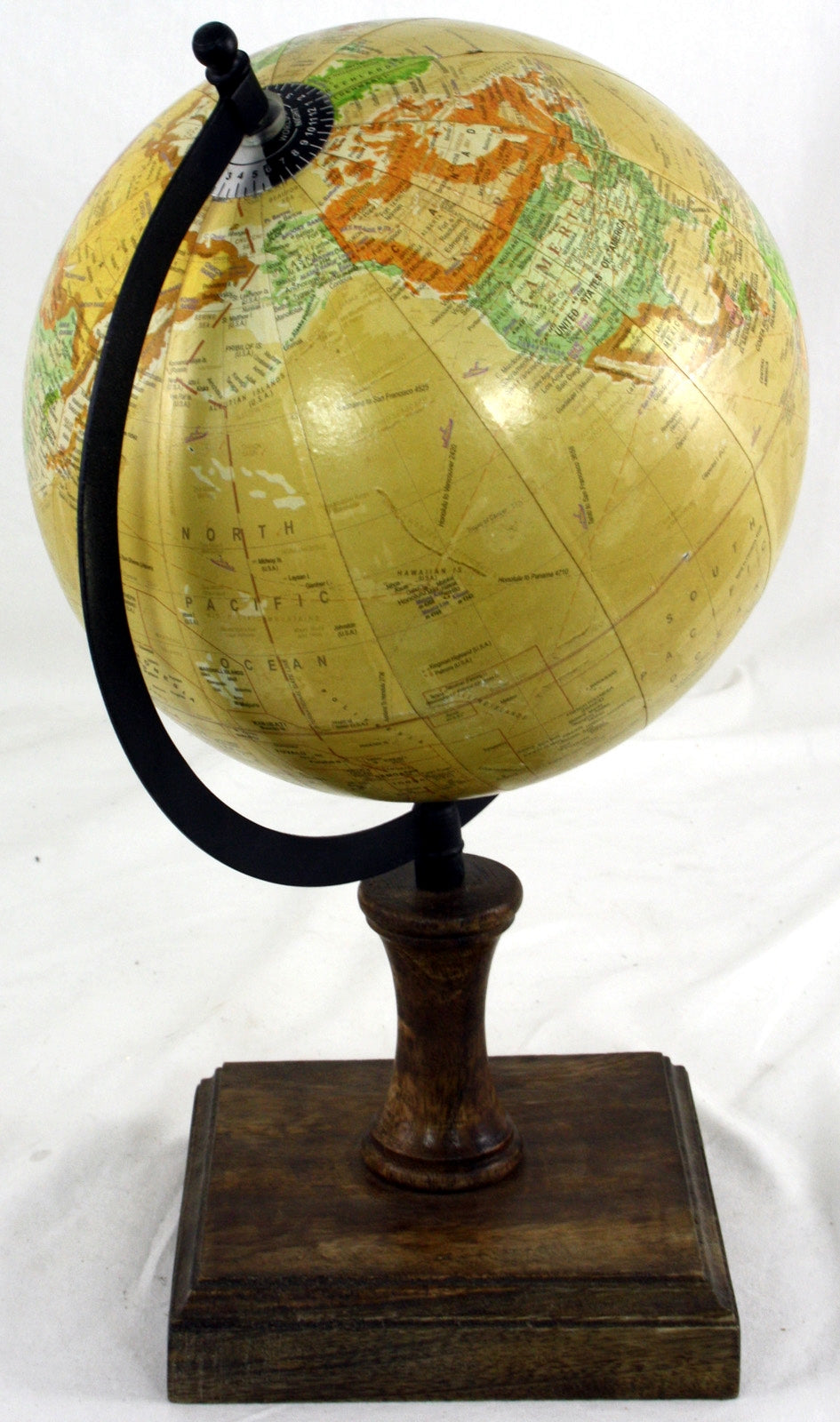 Decorative Globe On Wooden Stand (8 inches)