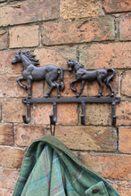 Rustic Cast Iron Wall Hooks - Running Horses (Two or Three)