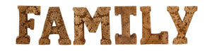 Hand Carved Wooden Flower Letters - FAMILY (Available in Natural and White)
