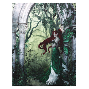 'Direwood' Fairy Canvas Plaque by Nene Thomas - 19 x 25cm