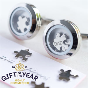 Dad 'I Love You To Pieces' Cufflinks with Personalised Gift Box