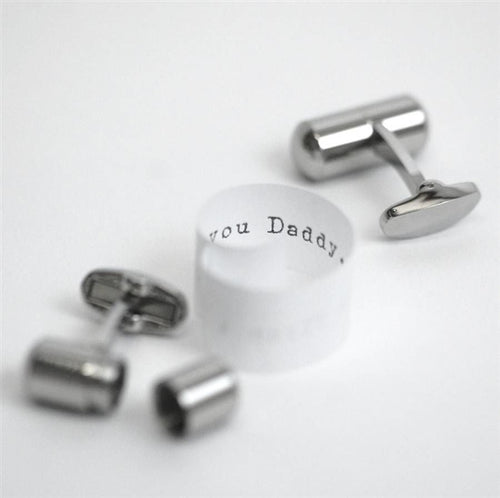 Secret Message Scroll Cufflinks with Personalised Gift Box