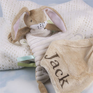 Personalised Nutbrown Hare Snuggle Blanket