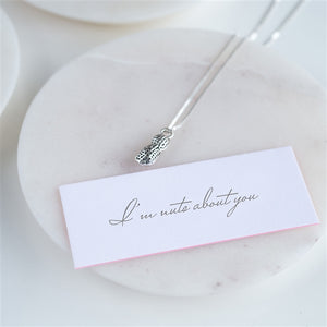 'Nuts About You' Silver Plated Necklace