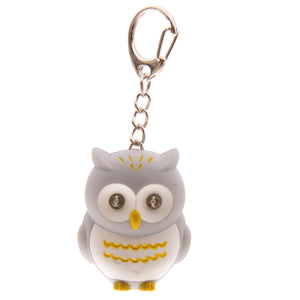 Cute Owl LED Keyring with Sound - Available in Brown, Black and Grey