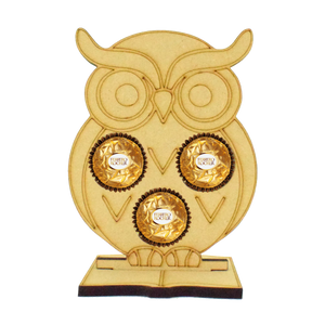 Owl Ferrero Rocher/Lindt Chocolate Holder on a Book Stand - Perfect Gift for Teachers (Chocs not inc.)