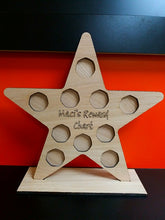 Oak Veneer Personalised Coin Star Reward Chart - £1 and 50p versions