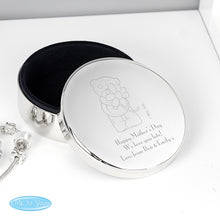 Personalised Me To You with Flower Round Trinket Box - Perfect for Valentine's Day, Anniversaries, Birthdays
